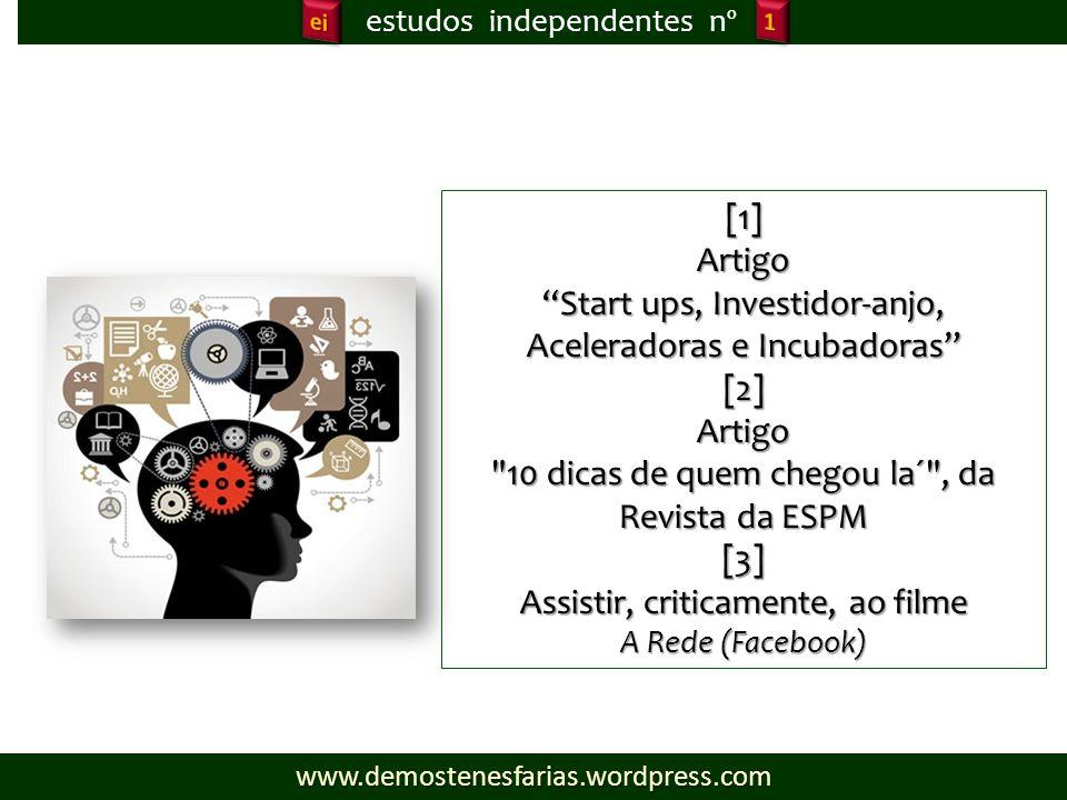 Start ups, Investidor-anjo, Aceleradoras e Incubadoras [2]